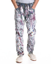 Cote De Nuits - Multi - Paint Splatter Wash Carpenter Denim Jeans