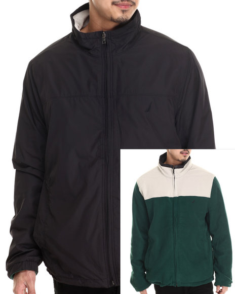 Nautica - Men Black Reversible Bomber