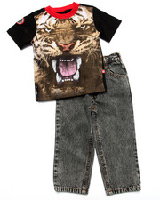 Enyce - 2 PC SET - TIGER TEE & JEANS (2T-4T)