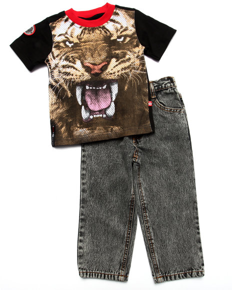 Enyce - Boys Multi 2 Pc Set - Tiger Tee & Jeans (2T-4T) - $34.00