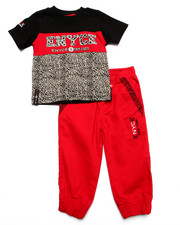 Sizes 2T-4T - Toddler - 2 PC ELEPHANT PRINT JOGGER SET (2T-4T)
