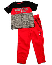 Sets - 2 PC ELEPHANT PRINT JOGGER SET (4-7)