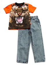 Sets - 2 PC SET - TIGER TEE & JEANS (4-7)