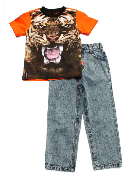 Enyce - Boys Multi 2 Pc Set - Tiger Tee & Jeans (4-7)