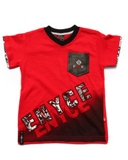 Enyce - V-NECK LOGO POCKET TEE (4-7)