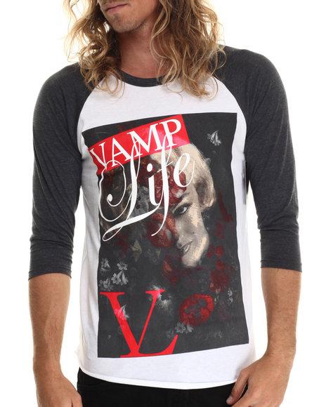 Ur-ID 212865 Vampire Life - Men White Lady Vamp Life Raglan