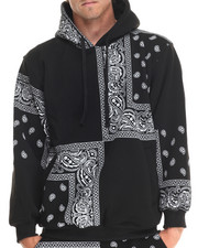 Basic Essentials - Paisley Print Fleece Hoodie
