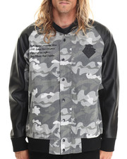 Outerwear - Wool Waves Varsity Jacket