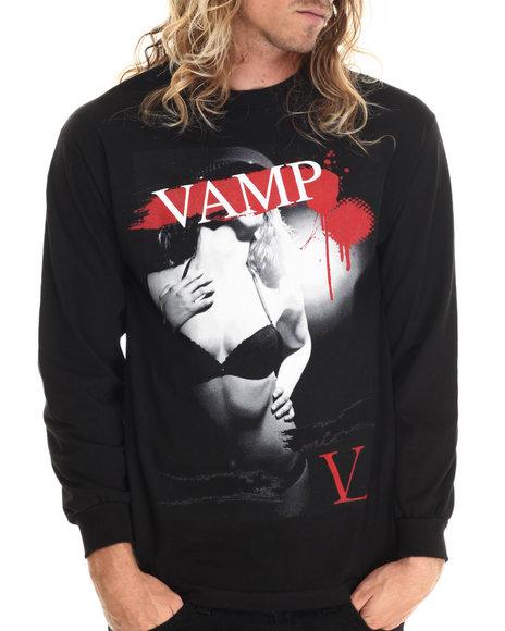 Ur-ID 212874 Vampire Life - Men Black Vamp Lady L/S T-Shirt