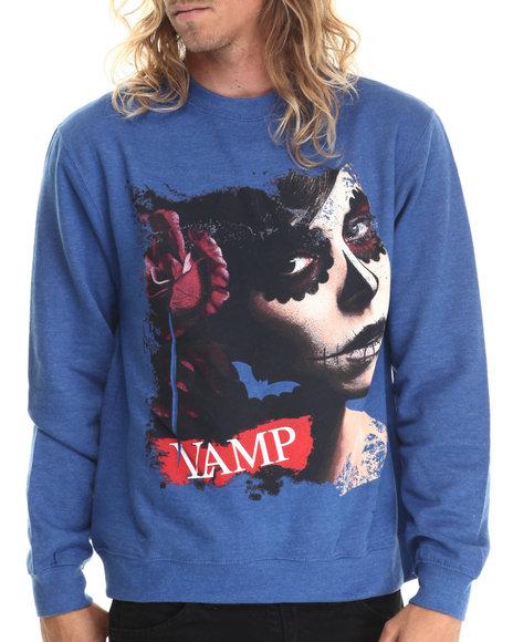 Ur-ID 212876 Vampire Life - Men Blue Vamp Evil Dead L/S T-Shirt