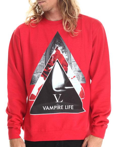 Ur-ID 212878 Vampire Life - Men Red Vamp Pyramid Sweatshirt