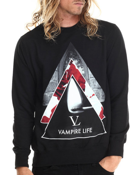 Vampire Life - Men Black Vamp Pyramid Sweatshirt