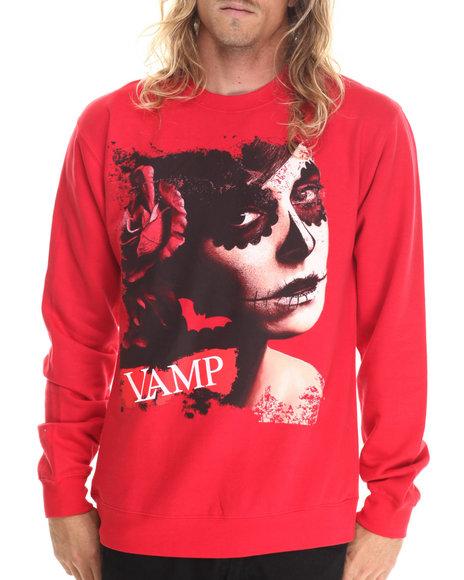 Ur-ID 212881 Vampire Life - Men Red Vamp Evil Dead L/S T-Shirt