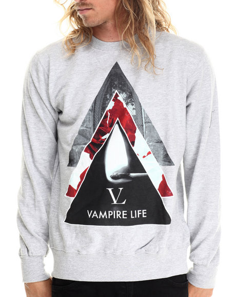 Vampire Life - Men Grey Vamp Pyramid Sweatshirt