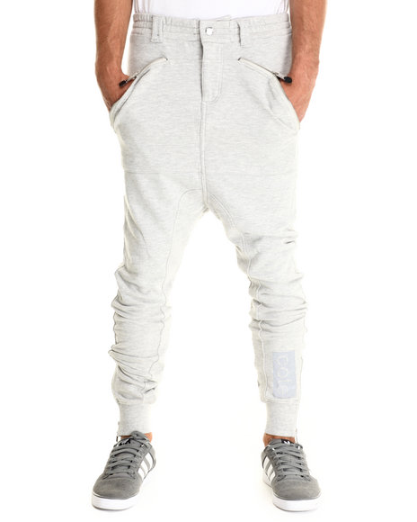 Cote De Nuits - Men Grey French Terry Joggers