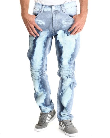 Cote De Nuits - Men Medium Wash Cloud Wash 5 - Pocket Denim Jeans