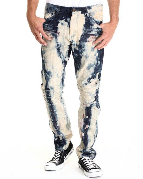 Cote De Nuits - Men Dark Wash Midnight Marble 5 - Pocket Fashion Denim Jeans