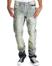 Heritage America - Dirty Indigo Rip & Torn Denim Jeans