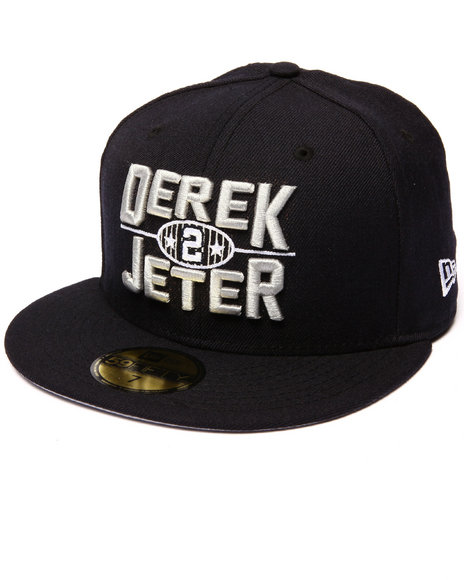 New Era - Men Navy Derek Jeter Logo 5950 Fitted Hat