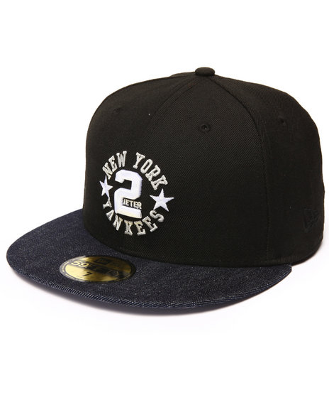 New Era - Men Black Derek Jeter #2 Remix 5950 Fitted Hat