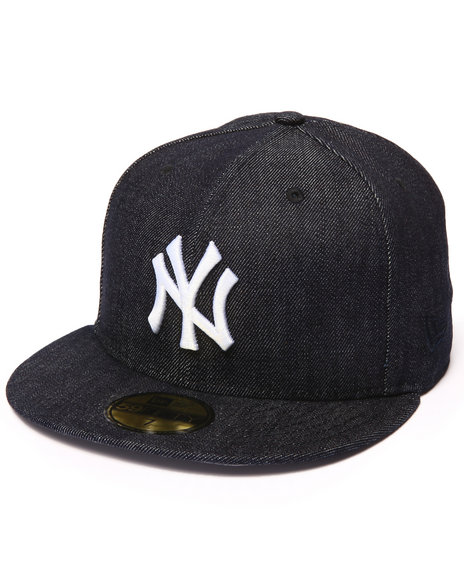 New Era - Men Navy Derek Jeter #2 Commemorative Raw Denim 5950 Fitted Hat