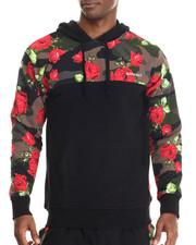 Men - Floral Camo Fleece Hoodie
