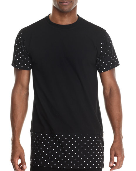Buyers Picks - Men Black Polka Dot Fashion Tee - $28.99