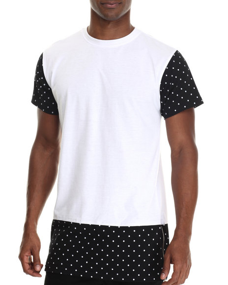 Buyers Picks - Men White Polka Dot Fashion Tee