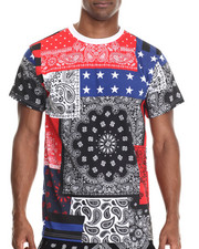 Buyers Picks - Mix'd patch print s/s tee (e-longated detail)