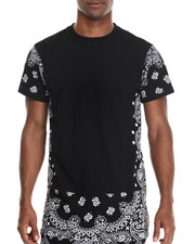 Buyers Picks - Bandana E-longated  zipper detail s/s tee (e-longated detail)
