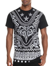 Buyers Picks - Mix'd Stars print s/s tee (e-longated detail)