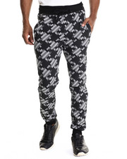 Pants - 32 Bit Print Drawstring jogger sweatpants