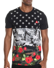 T-Shirts - Triple Print Floral Camo Tee
