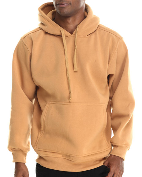 Ur-ID 212918 Basic Essentials - Men Wheat Pull-Over Fleece Hoodie