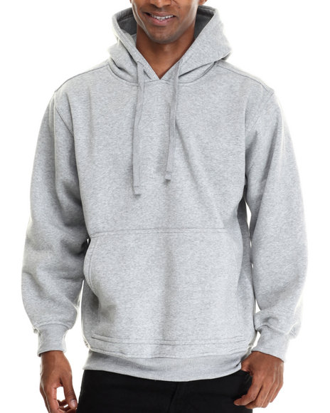Basic Essentials - Men Grey Pull-Over Fleece Hoodie - $29.99