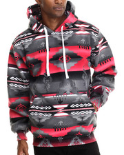Basic Essentials - Aztec Print Fleece Hoodie