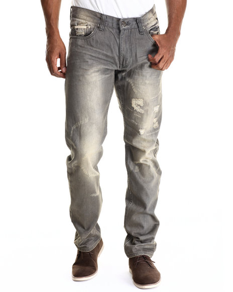 Ur-ID 212931 Heritage America - Men Grey Grey Shadow Denim Jeans
