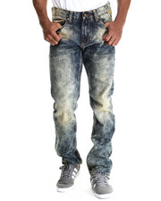 Jeans & Pants - Yellow Tinted Indigo Denim Jeans