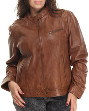 Women - Leather Moto Jacket