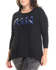 Women - Fish Tail Icon Graphic Tee (Plus)