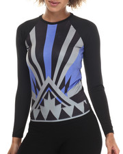 Women - Aztec Print  L/S  Top