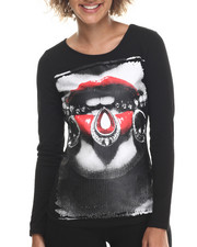 Women - Lips & Diamonds Graphic L/S Crew Tee