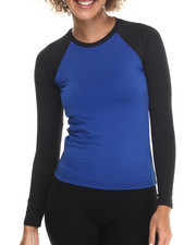 Women - Solid Long Sleeve Top