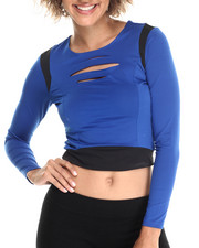 Fashion Tops - Lazer Cut Crop Top