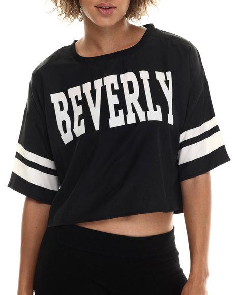 Ali & Kris - Women Black Beverly Hills Sporty Crop Top - $21.99