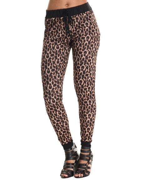 Ali & Kris - Women Animal Print Leopard Print Jogger - $21.99