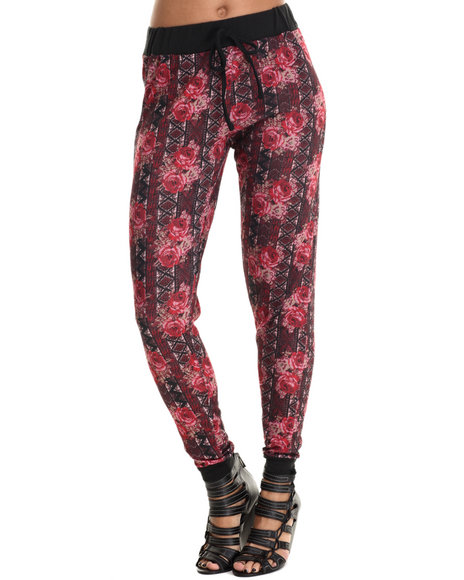 Ur-ID 212948 ALI & KRIS - Women Red Rose Print Jogger