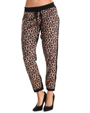 Bottoms - Leopard Print Solid Back Jogger