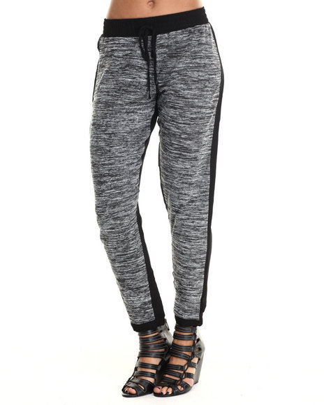 Ali & Kris - Women Black Heather Black Jogger