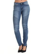 Bottoms - Skinny Moto Jean